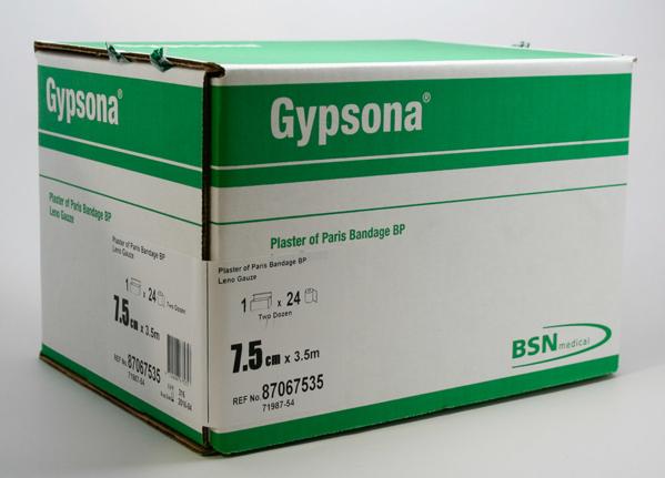 Gypsona 7 5cm X 3 5m 24's